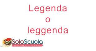 Legenda o leggenda