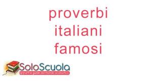 proverbi italiani famosi