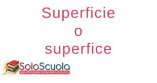 Superficie o superfice
