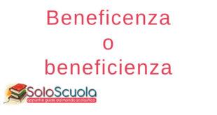 Beneficenza o beneficienza