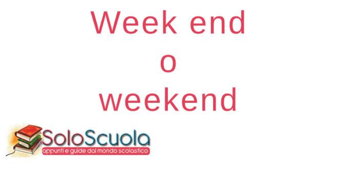 Week end o weekend
