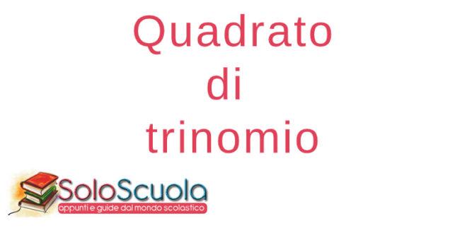 Quadrato di trinomio