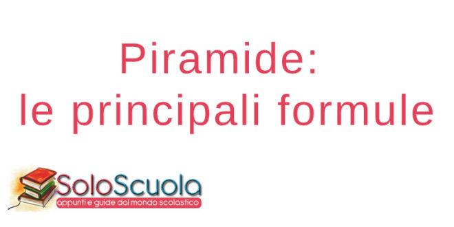 Piramide formule