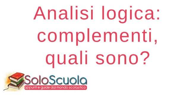 Complementi analisi logica