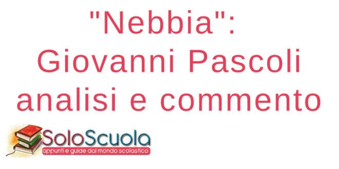 Nebbia Giovanni Pascoli