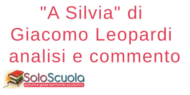 A Silvia di Giacomo Leopardi