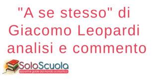 A se stesso di Giacomo Leopardi